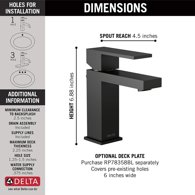 DELTA FAUCET 567LF-BLGPM-PP Modern Handle Lavatory Faucet Single Hole