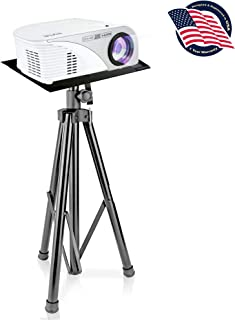Pyle Laptop Projector Stand, Heavy Duty Tripod Height Adjustable 30'' to 55'' for DJ Presentations Notebook Computer (PLPTS7)