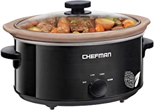 Chefman Slow Cooker, All Natural XL 7 Qt. Pot, Glaze-Free, Stovetop, Oven, Dishwasher Safe Crock; The Only Naturally Nonstick Paleo Certified Slow Cooker, Free Recipes Included (Renewed)