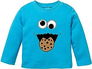 Ezyshirt Cookie Monster Baby T-Shirt Longsleeve Bio Baumwolle