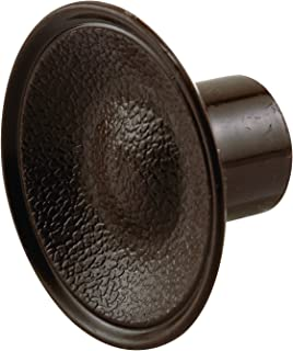Prime-Line Products MP6871 by-Pass Door Knobs, 1-13/16 in, Outside Diameter, Plastic Construction, Brown, Includes Fasteners, Pack of 10