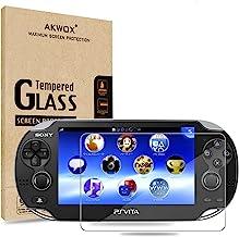 (بسته 2) محافظ صفحه نمایش برای PS Vita 1000، Akwox Premium HD Clear 9H شیشه محافظ شیشه محافظ برای سونی پلی استیشن ویتا PSV 1000 حداکثر ظاهر و لمسی دقیق فیلم