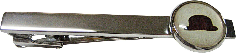 Kiola Designs Bowler Hat Square Tie Clip