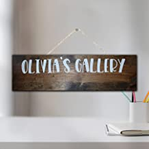 by Unbranded kid artwork display hout teken, kinderen kunst galerij, familie kunstwerk, op maat, gepersonaliseerde Rustiek...