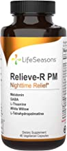 LifeSeasons - Relieve-R PM - Eases Nighttime Aches and Discomfort, Relaxes Muscles, Calms The Nervous System - 46 Capsules