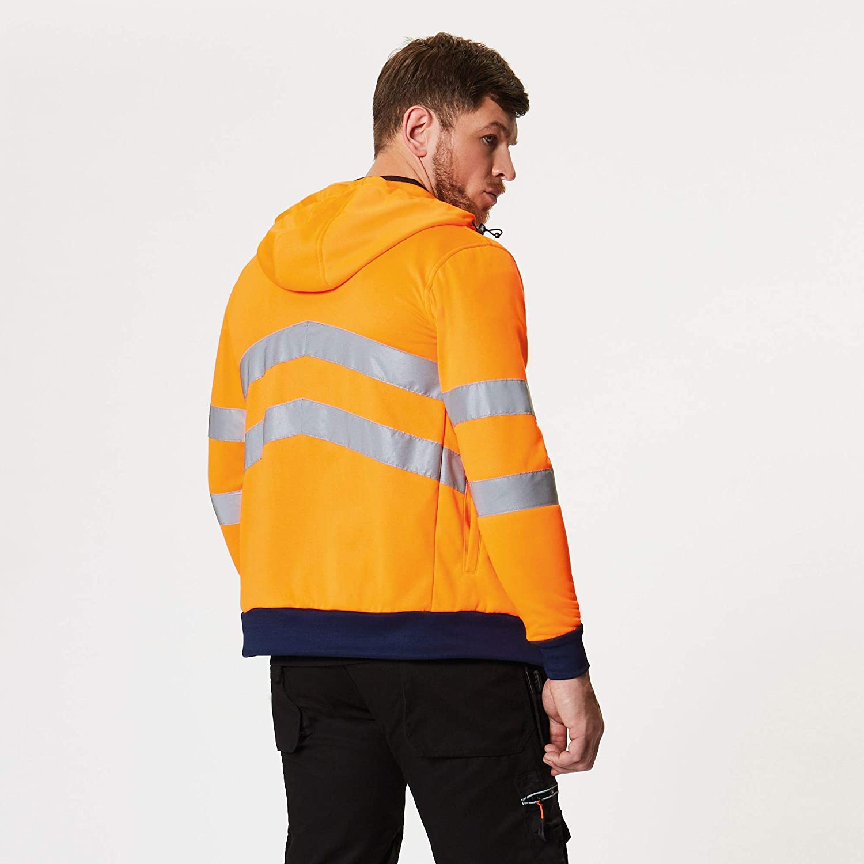 Regatta Professional Hi-Vis Extol Stretch Full-Zip Hoodie XXXL Orange//Navy