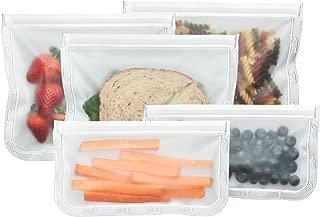 BlueAvocado Re-Zip Seal Reusable Storage Bag Kit (Pack of 5)