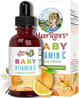 Organic Baby Vitamin C Liquid Drops by MaryRuth's | Vitamin C for Babies Immune Support | Organic Amla Fruit VIT C | 1 Oz