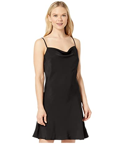 American Rose Hadley Spaghetti Strap Slip Dress (Black) Women