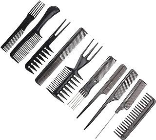 OZYSZSSZBESANSZ 10pcs/Set Professional Hair Brush Comb Salon Anti-static Hair Combs Hairbrush Hairdressing Combs Hair Care...