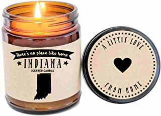 Indiana Scented Candle State Candle Homesick Gift No Place Like Home Thinking of You Holiday Gift