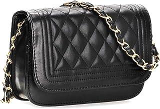Sunmiao Simple Retro Magnetic Iron Decorative Square PU Shoulder Bag Messenger Bag Black
