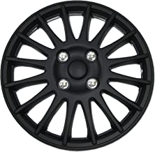 TuningPros WSC-611B16 Hubcaps Wheel Skin Cover 16-Inches Matte Black Set of 4