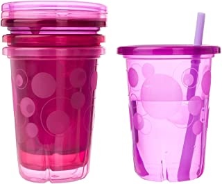 The First Years Straw Cup, Pink Take and Toss, 10 Ounce, 4-Count, Single set
