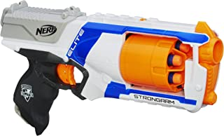 Strongarm Nerf N-Strike Elite Toy Blaster with Rotating Barrel, Slam Fire, and 6 Official Nerf Elite Darts for Kids, Teens, and Adults (Amazon Exclusive) (Renewed)