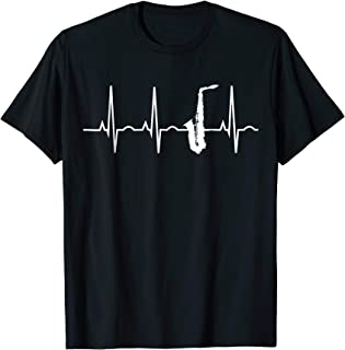 Saxophone Player Shirt - Saxophone Heartbeat T-Shirt