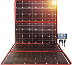 DOKIO 300w Solar Panel Kit Mono Portable Flexible Folding Include Solar Charge Controller and PV Cable for 12v Battery Charging Camper Van