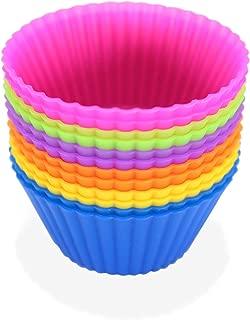 Nonstick Silicone Cupcake Molds-Reusable Cupcake Liners-BAP-Free Muffin Liners-Silicone Cupcake Baking Cups-Multicolored Silicone Cupcake Liners-Pack Of 12 Multicolored Silicone Muffin Liners