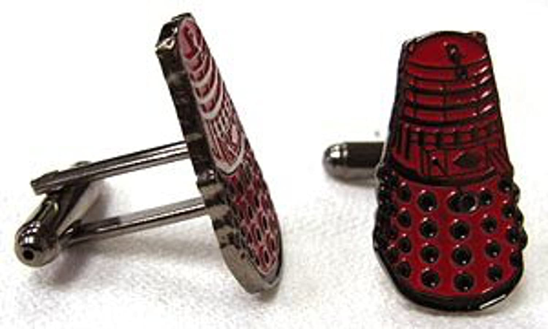 Doctor Who Red Dalek Cufflinks (Set of 2)