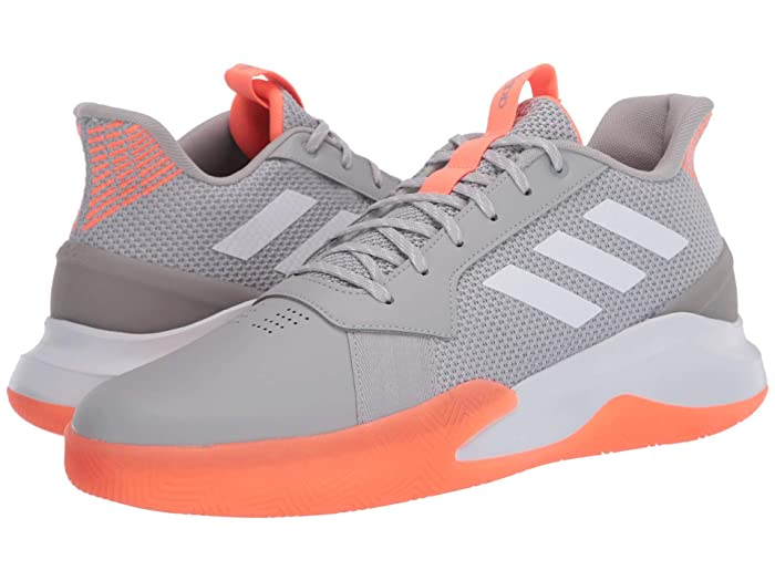 adidas  Run The Game (Grey Two/Footwear White/Signal Coral) Mens Shoes