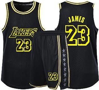 Júmıs23#バスケットボールジャージーLıkırsメンズファンジャージスポーツショーツセット、バスケットボールスウィングマンジャージ、アウトドアフィットネス