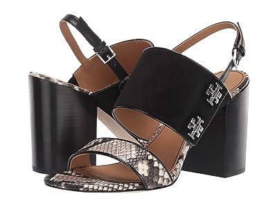 Tory Burch Kira 85 mm Sandal (Perfect Black/Warm Roccia) Women