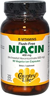 Country Life - Flush Free Niacin, 400 mg - 90 Vegan Capsules