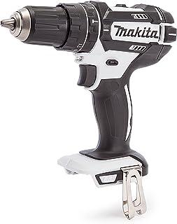 Makita WZ DHP482 18V White Cordless Combi Drill (Body Only), 18 V