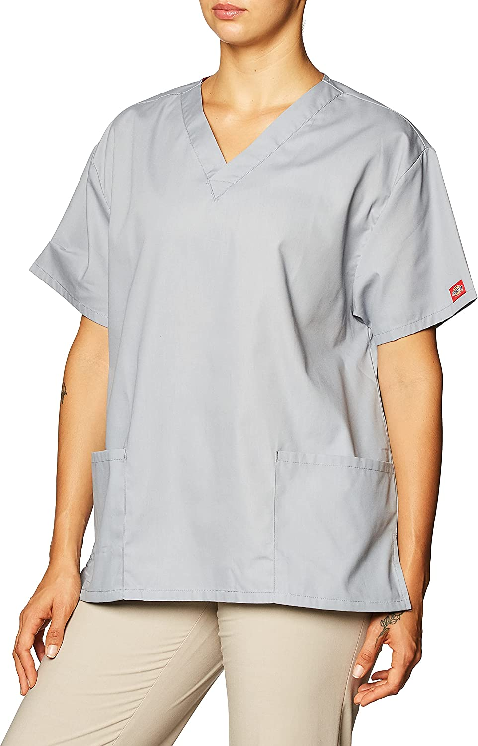Dickies Women's EDS Signature Scrubs 86706 Missy Fit V-Neck Top