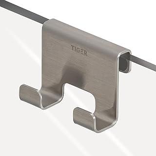 Tiger Caddy handdoekhaak, geborsteld roestvrij staal, BxHxD: 7 x 5 x 3,5 cm