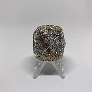 2017 Sydney Crosby #87 Pittsburgh Penguins High Quality PREMIUM Replica Stanley Cup Championship Ring Size 11 Silver Colored