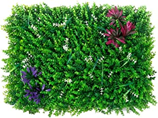 XEWNEG Artificial Plants Wall Boxwood Hedge Mat,Faux Greenery Panel, UV Protected, For Both Outdoor Or Indoor Garden Backy...