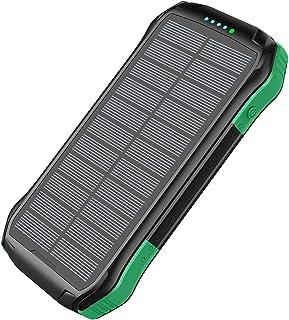 ZXWNB Utomhus Robust mobil powerbank 16000 mAh PD18W snabbladdning trådlös solbank, orange, C