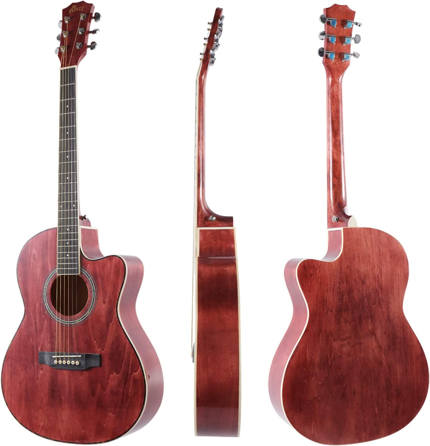 Tama/ño 3//4 Guitarra Ac/ústica Negro Kit para Principiantes Winzz Guitarra Folk para Ni/ños 36 Pulgadas