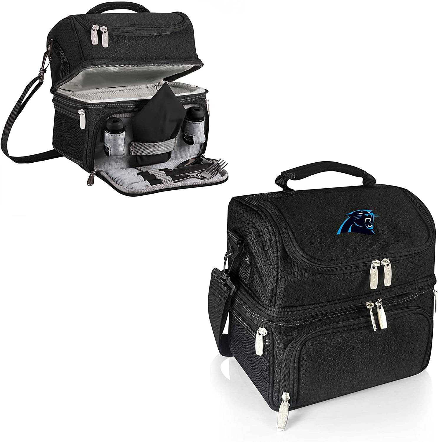 Limited time for free shipping Philadelphia Mall PICNIC TIME Black Carolina Lunch Tote Panthers Pranzo
