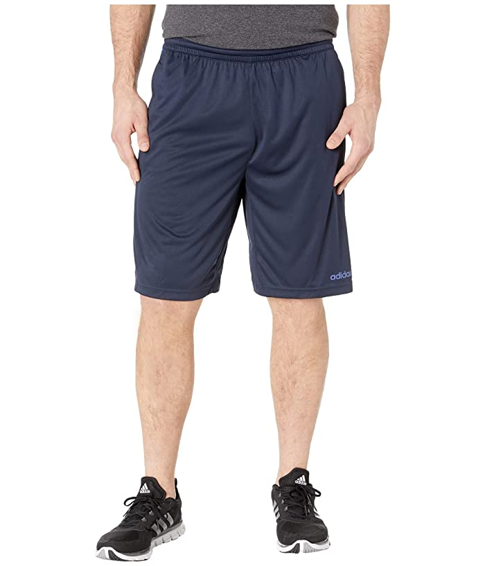 adidas Big Tall D2M 3-Stripe Shorts (Legend Ink/Collegiate Royal) Men