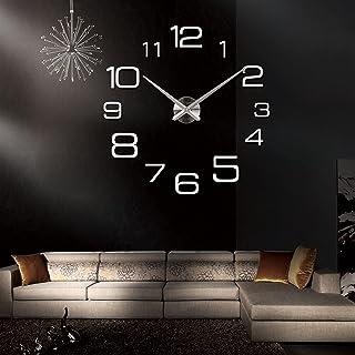 3D creative living room bedroom sofa background New wall clock modern 3d big quartz watch clocks living room large clocks ...