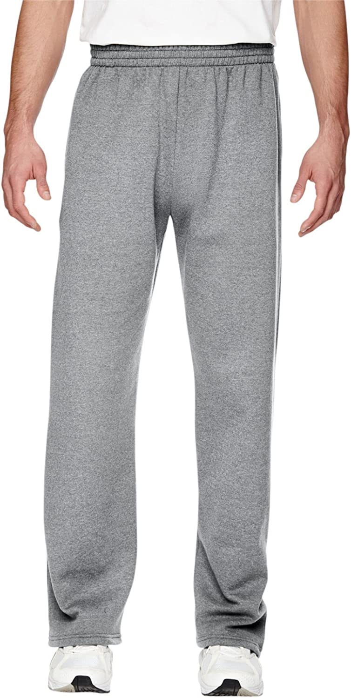 Fruit of the Loom Men's Sofspun Fleece Open Bottom Sweatpants