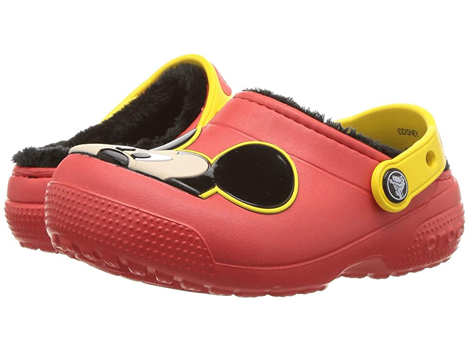 Crocs Kids Classic Lined Clog (Toddler/Little Kid) (Mickey/Flame) Kids Shoes
