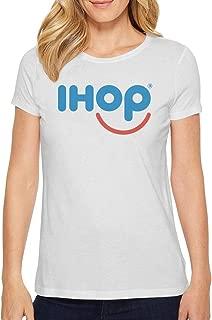 Aiuiiyds Womens ihop Logo Short Sleeve T Shirts Loose Casual Breathable Tee