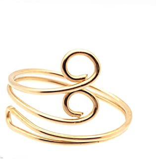 Toe Ring Swirl - Adjustable 14 Kt Gold Filled