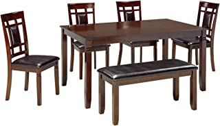 Signature Design by Ashley Table, Bennox 6-piece Set Brown