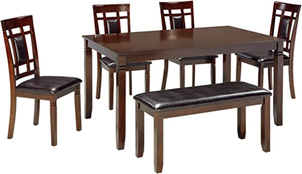 Ashley Furniture Signature Design Bennox Dining Room Table And Chairs With Bench Set Of 6 Brown