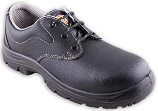Dickies Men's Shift Black Leather Safety Shoes - 7 UK/India (41 EU)