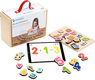 Marbotic - Deluxe Learning Kit for iPad - Ages 3-5 - Interactive Wooden Numbers and Letters Set - Hands-on Educational Lea...