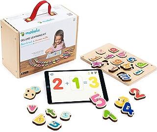 Marbotic - Deluxe Learning Kit for iPad, Letras y números interactivos de Madera para Aprender a Leer y Contar de Forma pr...