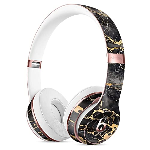 Black and Gold Marble Surface DesignSkinz Full-Body Skin Kit for The Beats  by DRE 368c69e9f