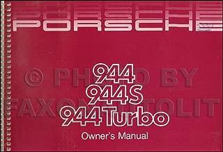 1987 Porsche 944 Owner's Manual Original