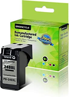 GREENCYCLE Re-Manufactured PG-240XL 240 XL Ink Cartridge Compatible for Canon PIXMA MG3620 MG4220 MG3220 MG2220 MX392 MX432 MX472 MX512 MG3522 MX522 MX532 Printer (Black, 1 Pack)