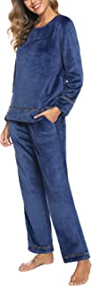 Women's Velour Sweatsuit Set 2 Piece Tracksuits Pullover Sport Suits Long Sleeve Outfits